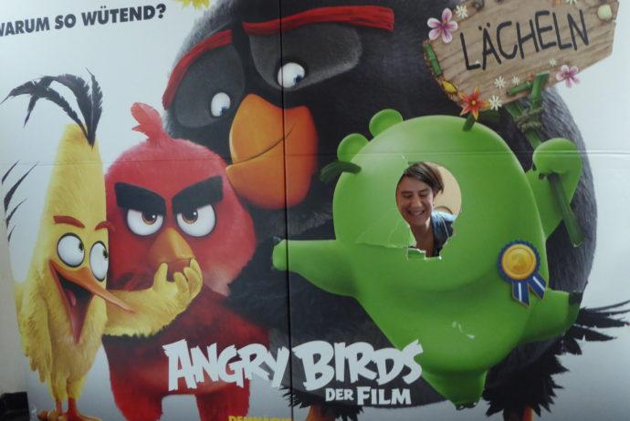 Fotowand im Kino