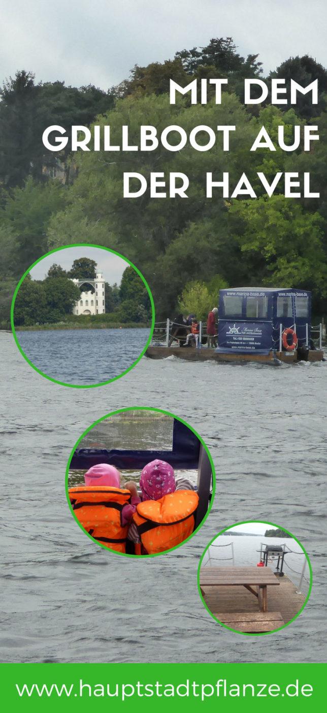 Picknick auf dem Wasser! Mit dem Grillboot auf Havel und Wannsee Berlin und Brandenburg erkunden.