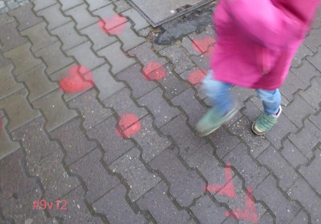 #12von12 März 2018 | Herzen auf dem Gehweg laden zum Tanz
