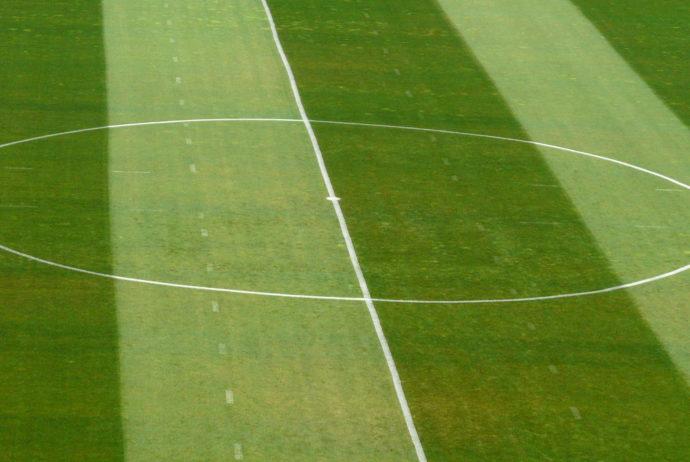Fußballfeld Mittelpunkt