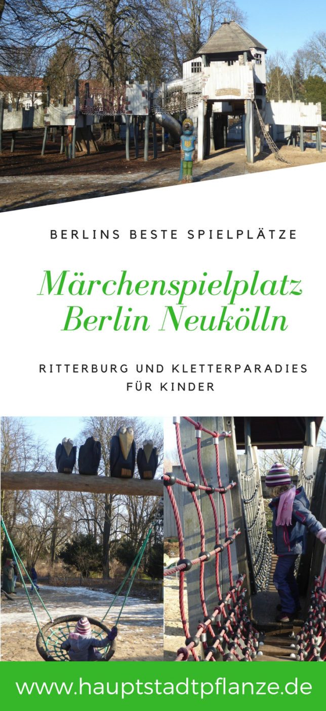 Außergewöhnlicher Spielplatz in Berlin, mit Ritterburg für Kinder | Märchenspielplatz in Berlin Neukölln