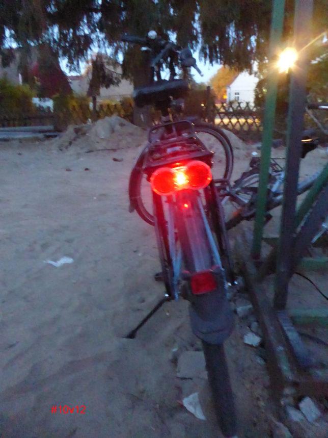 Rücklicht am Rad