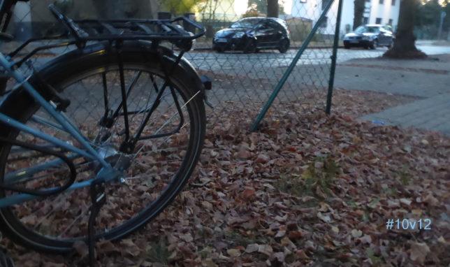 Herbstabend mit Rad