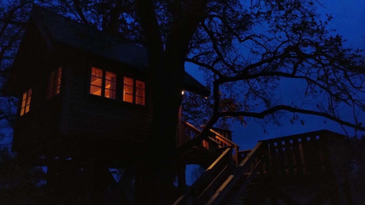 Übernachten im Baumhaus